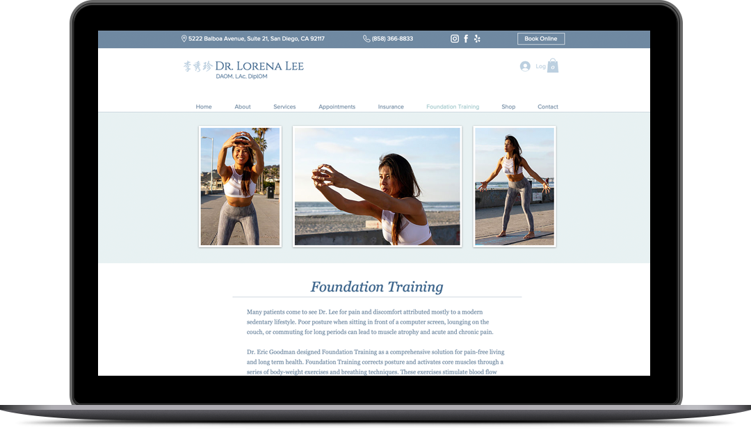 Dr. Lorena Lee Website Foundation Training Page