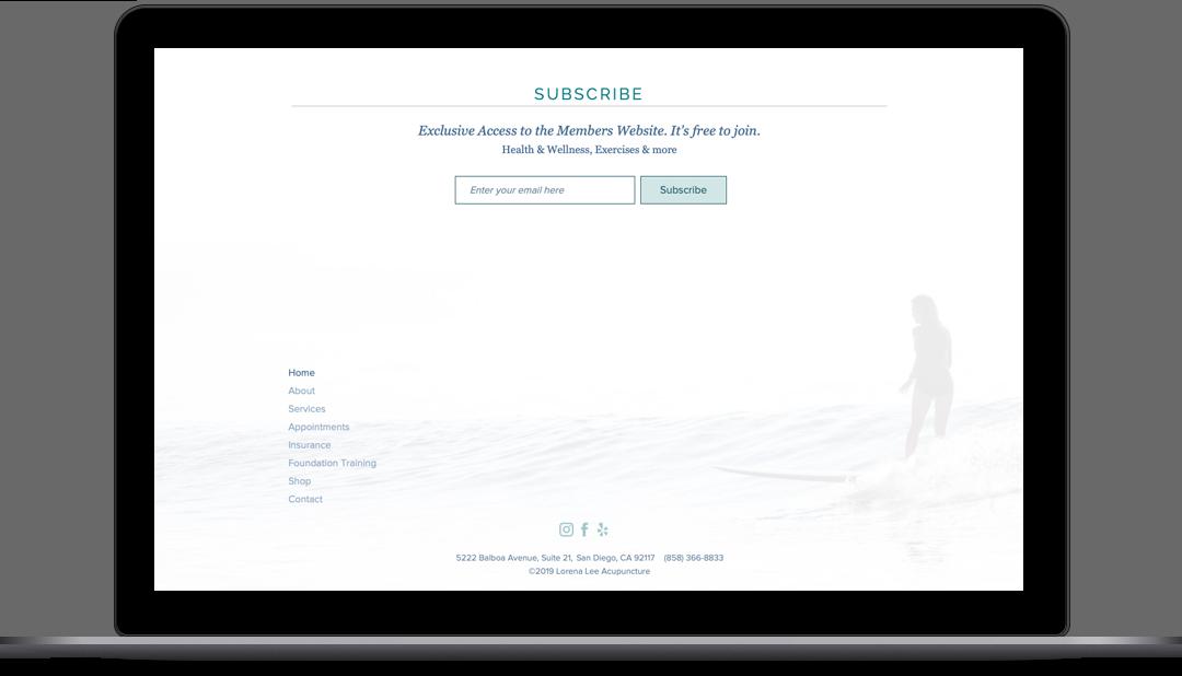 Dr. Lorena Lee Website Home Page - Bottom