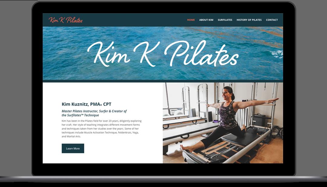 Kim K Pilates Website Homepage